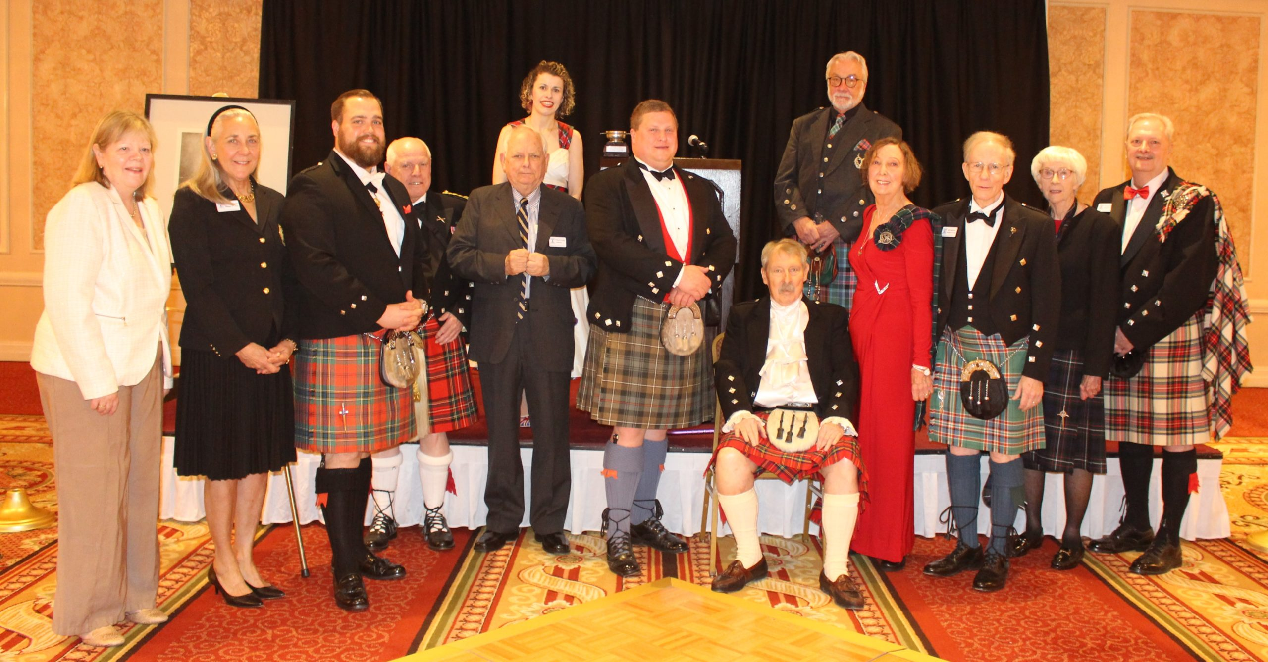 The 2019-2020 Board of Directors attending the 2020 Burns Dinner
